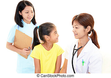 Smiling Physicians and patient