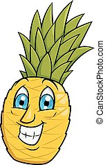 Smiling pineapple 2
