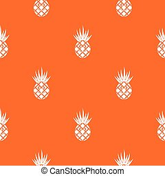 Smiling pineapple pattern seamless