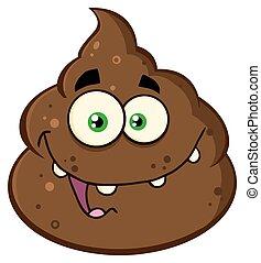 Smiling Poop Character - Smiling Poop Cartoon Mascot...