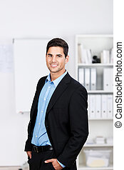 Smiling portrait of a young businessman