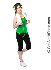 smiling portrait of asian sport woman