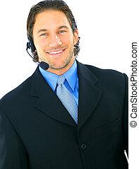 Smiling Portrait Of Male Customer Service