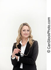 Smiling professional woman or manageress