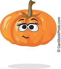 Smiling cartoon fall pumpkin smiling whole fresh orange vector smiling pumpkin cartoon mascot character vector thecheapjerseys Images