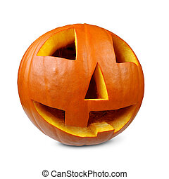 Smiling pumpkin for halloween