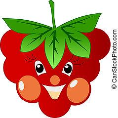 smiling raspberry
