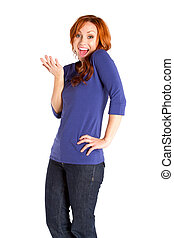 Smiling Red Headed Woman