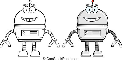 Robot Cartoon Character. Collection