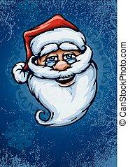 smiling Santa Claus face
