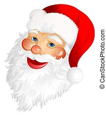Santa Claus - Smiling Santa Claus head