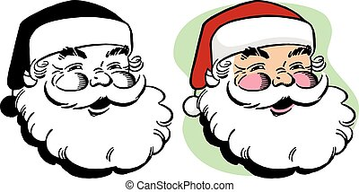 Smiling Santa Claus - A cartoon smiling Santa Claus head