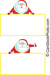 Smiling Santa with copy space showi