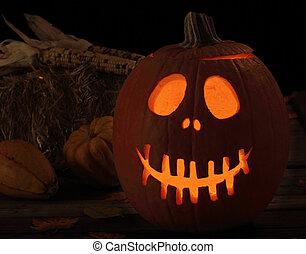 Smiling Scary Jack-o-Lantern