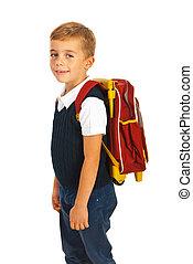 Smiling schoolboy