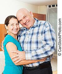 smiling senior couple together