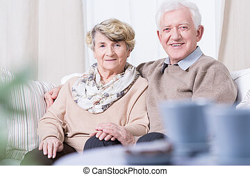 Smiling senior marriage