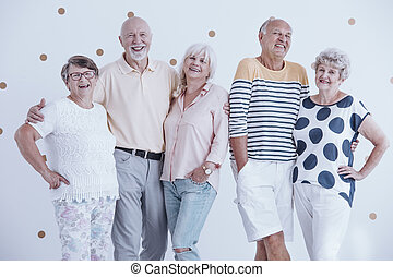 Smiling senior people