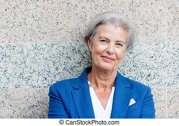 Smiling senior woman