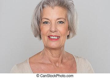 Smiling senior woman