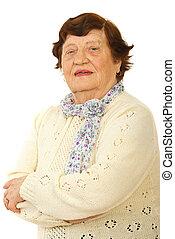 Smiling senior woman portrait