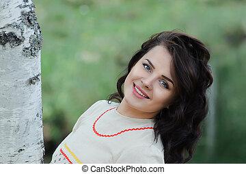 Smiling Slavic girl