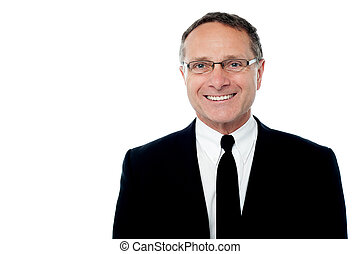 Smiling smart senior businessman