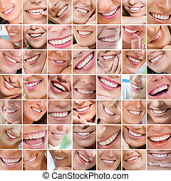 smiling - Smile theme collage composed of different images