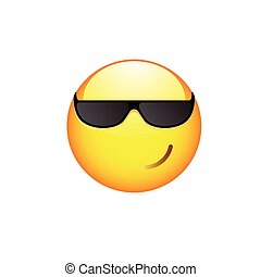Smiling Smiley with sunglasses