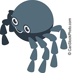 Smiling spider icon, isometric style