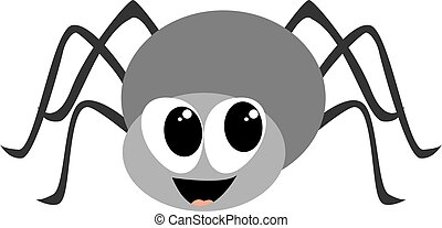 Smiling spider, illustration, vector on white background.
