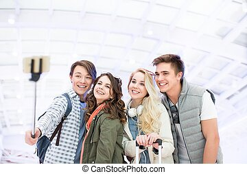 Smiling students
