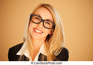 Smiling successful businesswoman