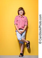 smiling summer boy