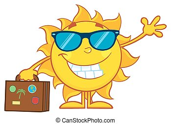 Smiling Summer Sun Character