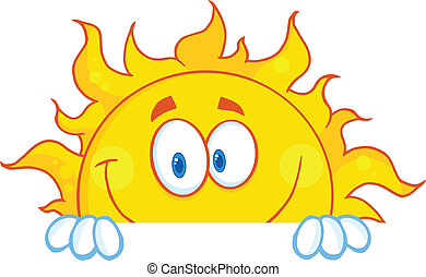 Smiling Sun Mascot Character