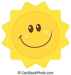 Smiling Sun Simple Flat Design