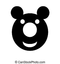 smiling teddy bear vector