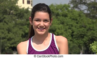 Smiling Teen Athletic Girl