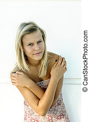 smiling teen blonde girl