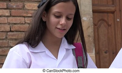 Smiling Teen Female Student