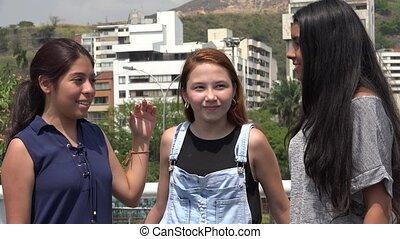 Smiling Teen Girl Friends