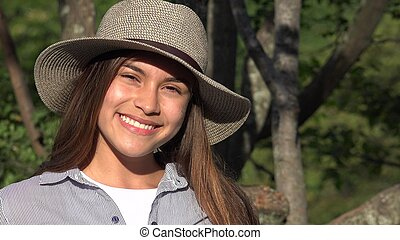 Smiling Teen Girl In Summer