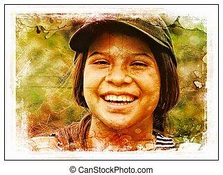Smiling Teen Girl