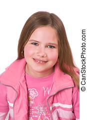 Smiling ten year old girl - Pretty ten year old girl smiling
