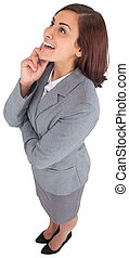 Smiling thoughtful businesswoman