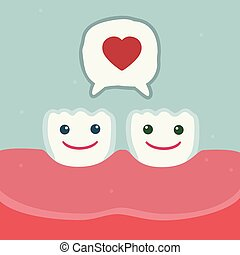 Smiling tooth characters