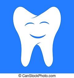 Smiling tooth, dental