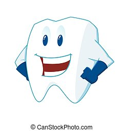 Smiling Tooth Mascot