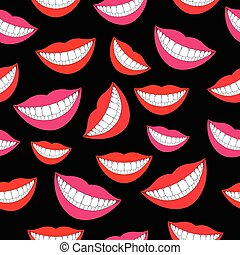 Smiling tooth seamless pattern